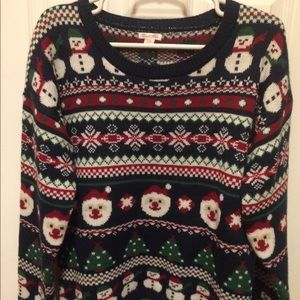 Xhilaration Christmas sweater EUC